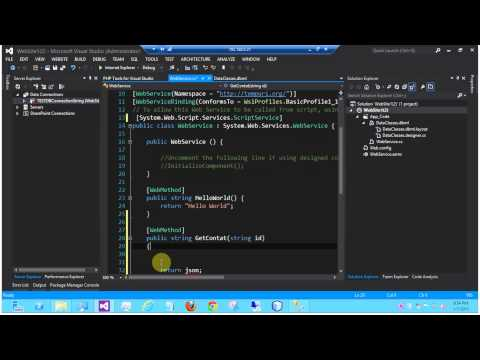 C# Visual Studio 2012 SOAP / REST Web Service - JSON