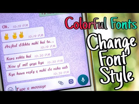 [NO Root] How to Change color Font Style in Any Android Device | By TubeTech