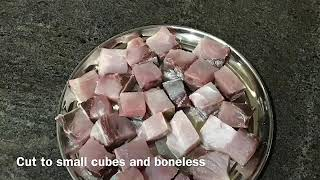 Boneless special fish curry