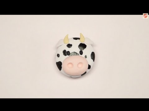 Sharon Wee's Cute Fondant Cow Topper Tutorial | Project Cupcake Craftsy Cake Decorating