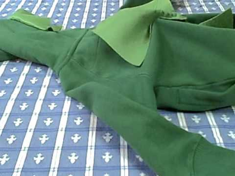 How to - Sew spikes on dinosaur costume