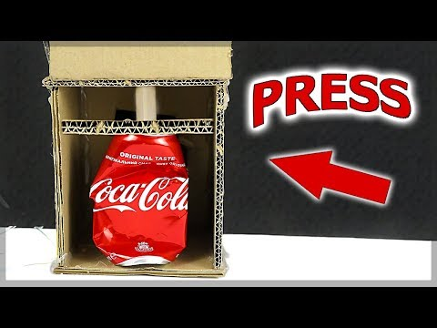 HOW TO MAKE HYDRAULIC PRESS FROM CARDBOARD