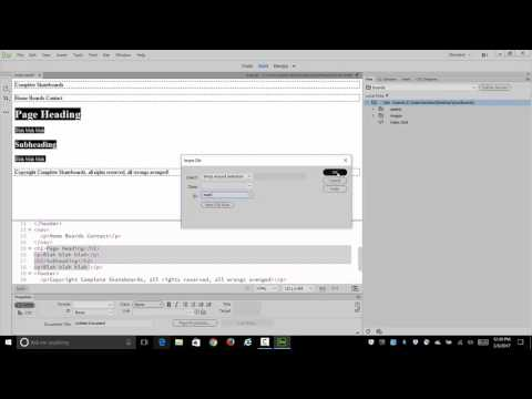 Create a 3 page Web Site Using Dreamweaver 2017