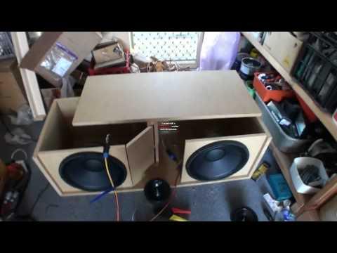 speaker line array build part 3