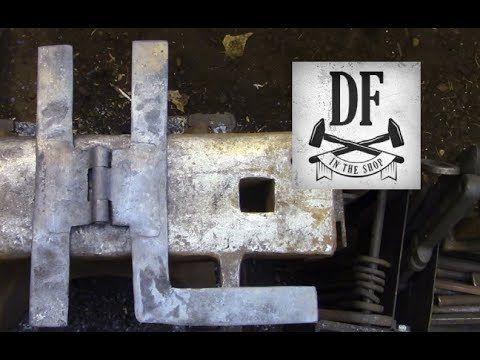 Blacksmithing for Beginners - A Simple H L Hinge 2