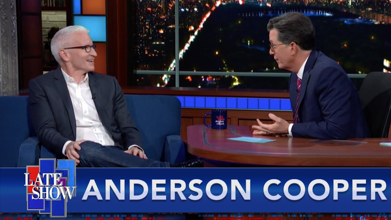 """""""Where's The Dad Bod?"""" Colbert Grills Anderson Cooper Before His Second Father's Day"""