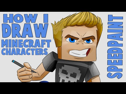 How I draw Minecraft characters  - (CARTOON STYLE IN PHOTOSHOP CC)