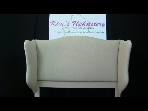 How To Build and Upholster a Wingback Headboard