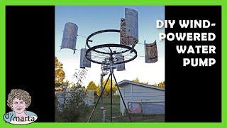 Diy Wind-powered Water Pump. Cata-vento Com Bomba De Agua.