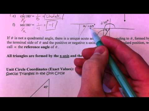 Evaluate Trig Functions Of Any Angle 2 Of 3