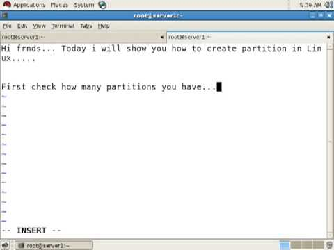 How to create partition in Linux?