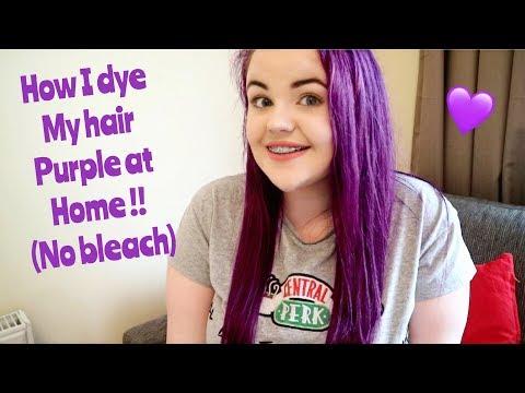 How I dye my hair purple at home (no bleach)   BabyCakesBeauty101