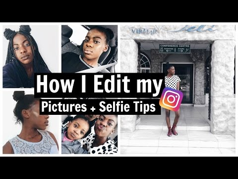 How I Edit my Instagram Pictures + How To Take a Perfect Selfie! (White Theme)