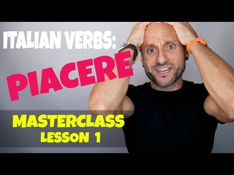Learn Italian Verbs and Basic Italian: PIACERE and How to Say TO LIKE in Italian (Lesson 1)