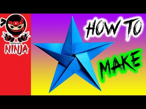 How to make: Origami Paper Star (w/ Verbal instructions + music)