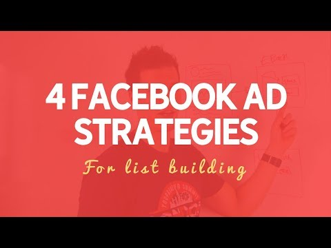 4 Ways To Grow Your Email List Using Facebook Ads