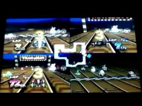 Mario Kart 6 (Wii) with Zekrom and Freedom