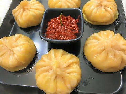 Veg Momos Recipe   Steamed Momos   Vegetable Dim Sum   Chinese Snack Recipe   Veg Dumplings