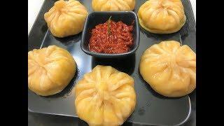Veg Momos Recipe | Steamed Momos | Vegetable Dim Sum | Chinese Snack Recipe | Veg Dumplings