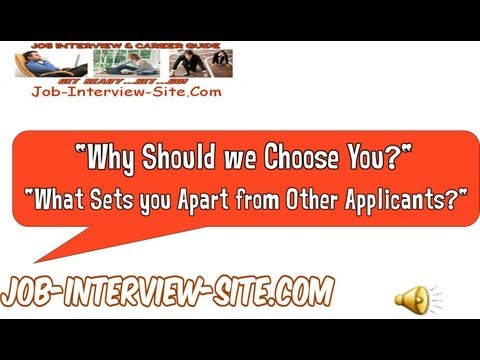 Why Should we Choose You Interview Question And Answer