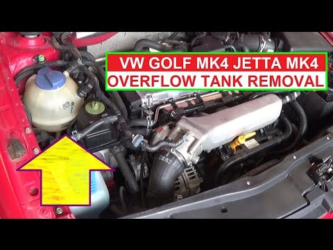 How to Remove and Replace the Coolant Overflow Reservoir Tank on VW JETTA MK4 GOLF MK4