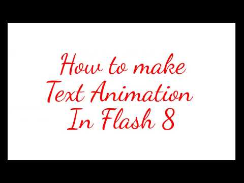 How to Make Glowing Text in Flash 8