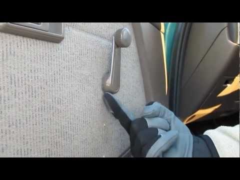 Toyota Tacoma Door Panel Removal part 2 Removing window handle