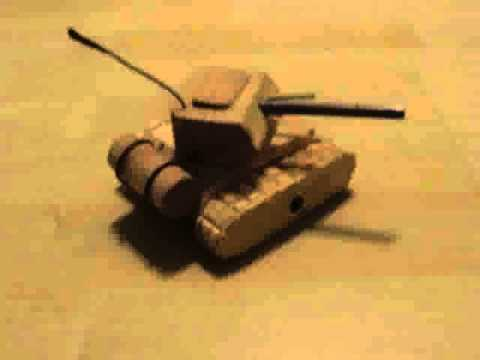 My homemade wooden toy tank