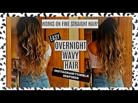 Heatless Wavy Hair | HOW TO GET TUMBLR HAIR