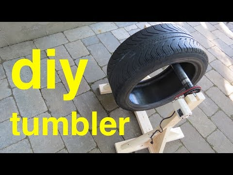 DIY TUMBLER ● from Sewing Machine and Tire !  ( easy build )