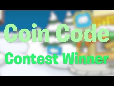 Club Penguin Coin Code Winner