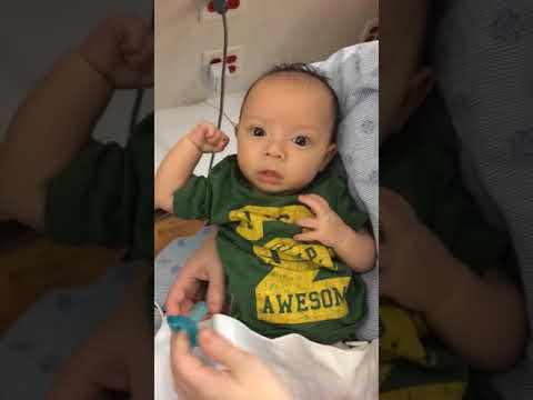 Sweet Baby Boy Shows His Strength While in Hospital