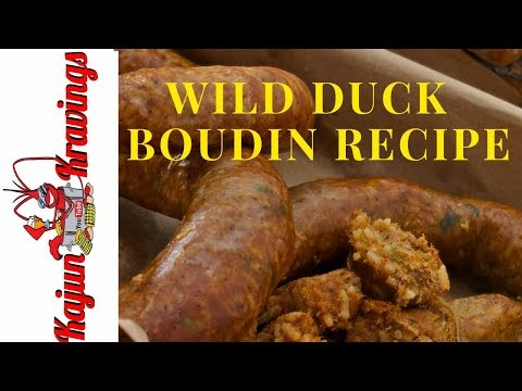 Wild Duck Boudin Recipe