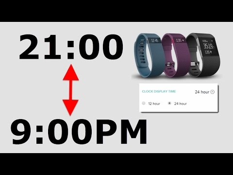 How to Change Fitbit to/from 24 Hour Clock (Military Time)