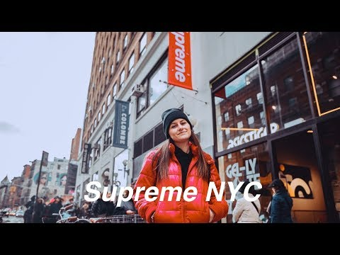 flew across the country to go to the SUPREME STORE