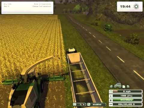 Farming Simulator 2013  -  Harvesting Corn into Chaff