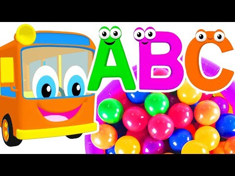 Kids Learn Colors & ABCs with Alphabet Bus | Teach ABC Song & Colour Rhymes for Children & Toddlers