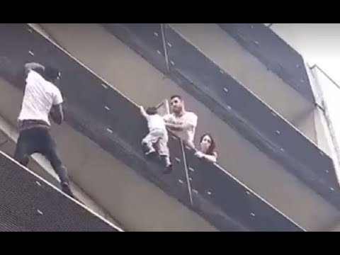 Malian 'spiderman' hero to get French citizenship after saving child from fourth floor balcony