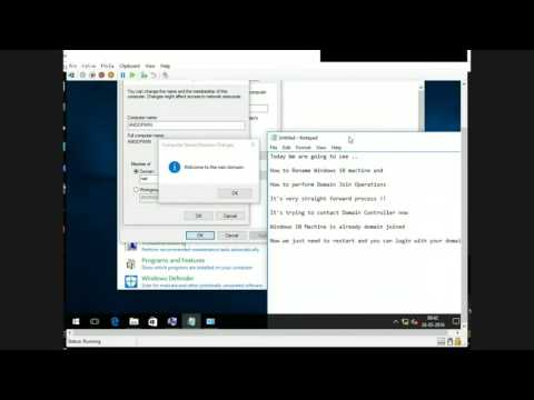 How to Rename Windows 10 machine and  How to perform Domain Join for Windows 10 machine