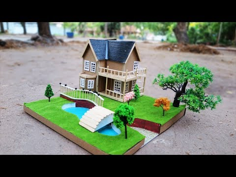 How To Make A Beautiful Mansion House From Cardboard ( Dream House ) - Project For School
