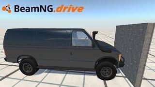 BeamNG drive - CARRO DE ENTREGAS VS BLOCOS DE CONCRETO.