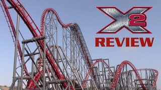 Download X2 Review Six Flags Magic Mountain 4th Dimension Coaster Video
