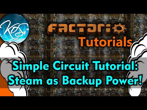 Factorio Tutorials:  Setting Steam to Backup Power Only