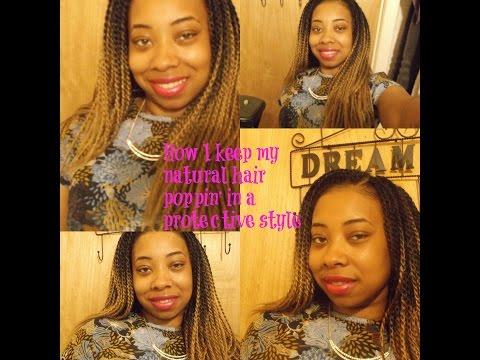 Maintaining natural hair in crochet braids