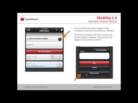 InterAction Mobility 1.3: Reaching the Point of Contacts