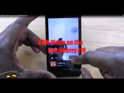 BBM Video Chat Demo on the BlackBerry Z10
