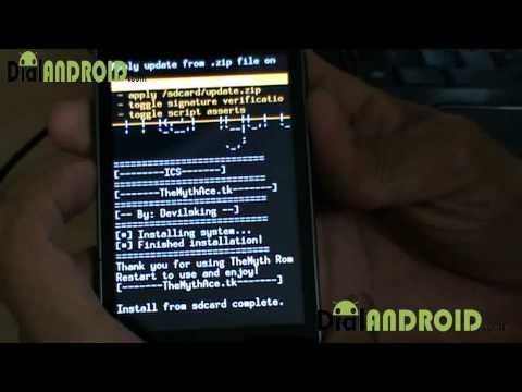 Install ICS Android 4.0 on Galaxy ACE S5830 : The Myth ROM Ice cream Sandwich
