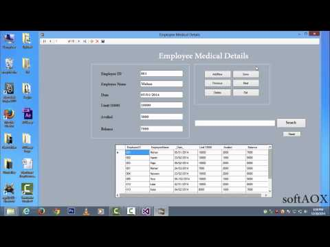 Add,Save,Delete & Search Information in Database Visual Basic/Studio 2013