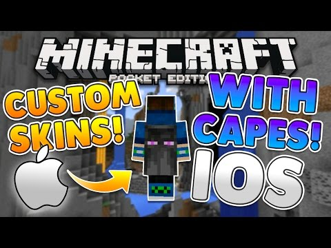 (iOS) MCPE CAPES FOR ANY SKIN TUTORIAL! 0.16.0 NO JAILBREAK iPhone or iPad Minecraft PE