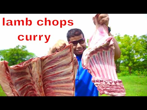 BEST LAMB MEAT COOKING IN WILD || LAMB CHOPS CURRY RECIPE || HYDERABADI STYLE MUTTON GRAVY